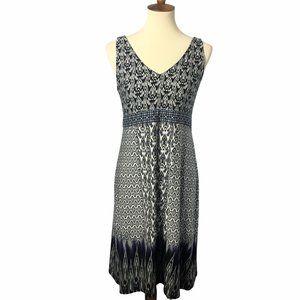 Athleta Ikat Print Sleeveless Tank Dress Large